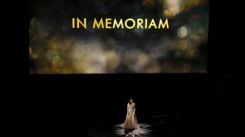 Sara Bareilles performs during an In Memoriam tribute at the Oscars on Sunday, Feb. 26, 2017, at the Dolby Theatre in Los Angeles. (Chris Pizzello/Invision/AP)