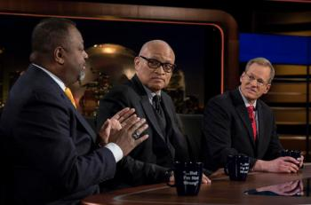 Panel left to right: Malcolm Nance - Author, The Plot to Hack America, U.S. Counterterrorism, Intelligence Officer, Larry Wilmore – Producer/ Comedian/ Writer, Jack Kingston – Former Representative