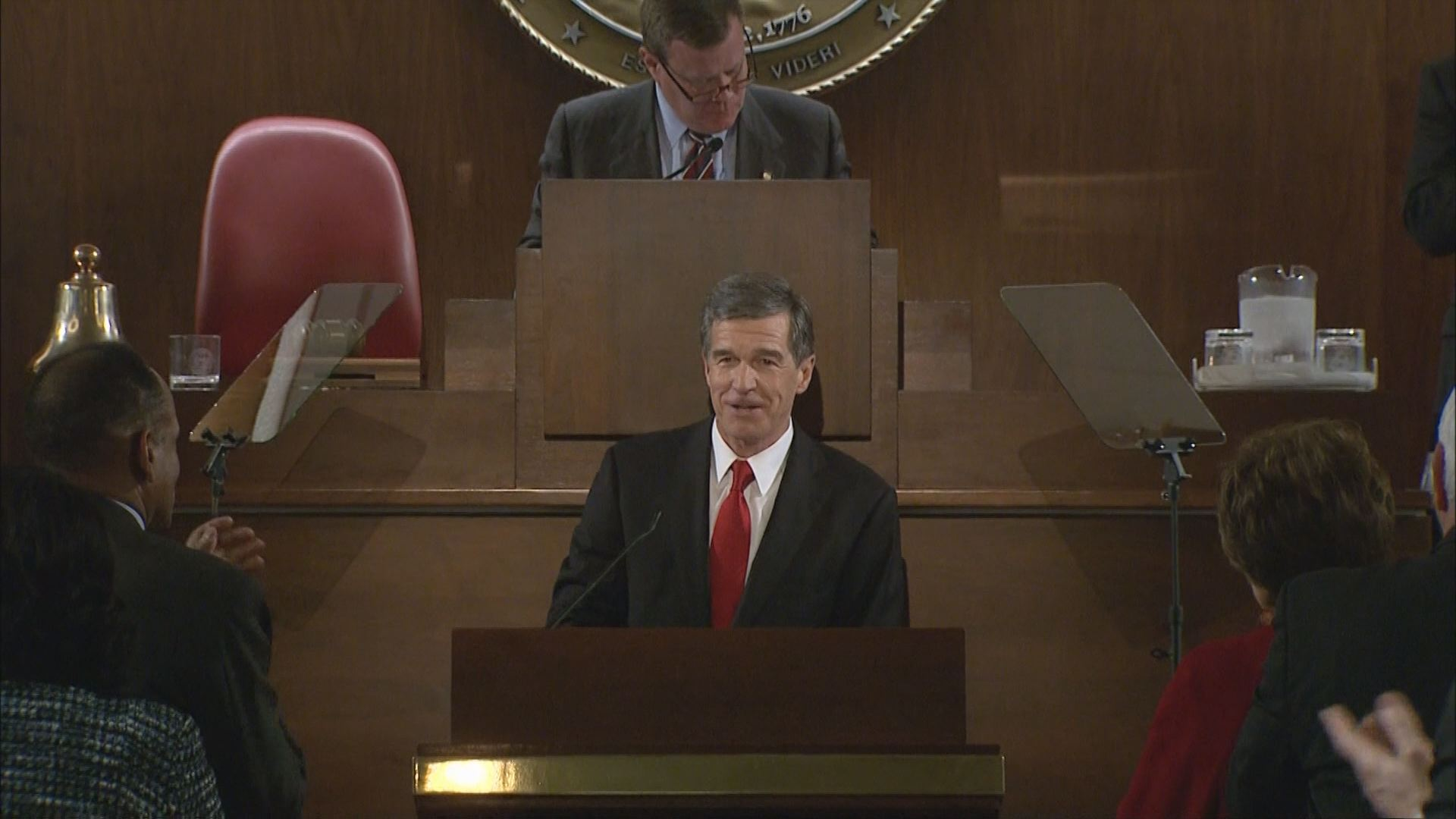 Cooper's first legislative address follows conflict with GOP