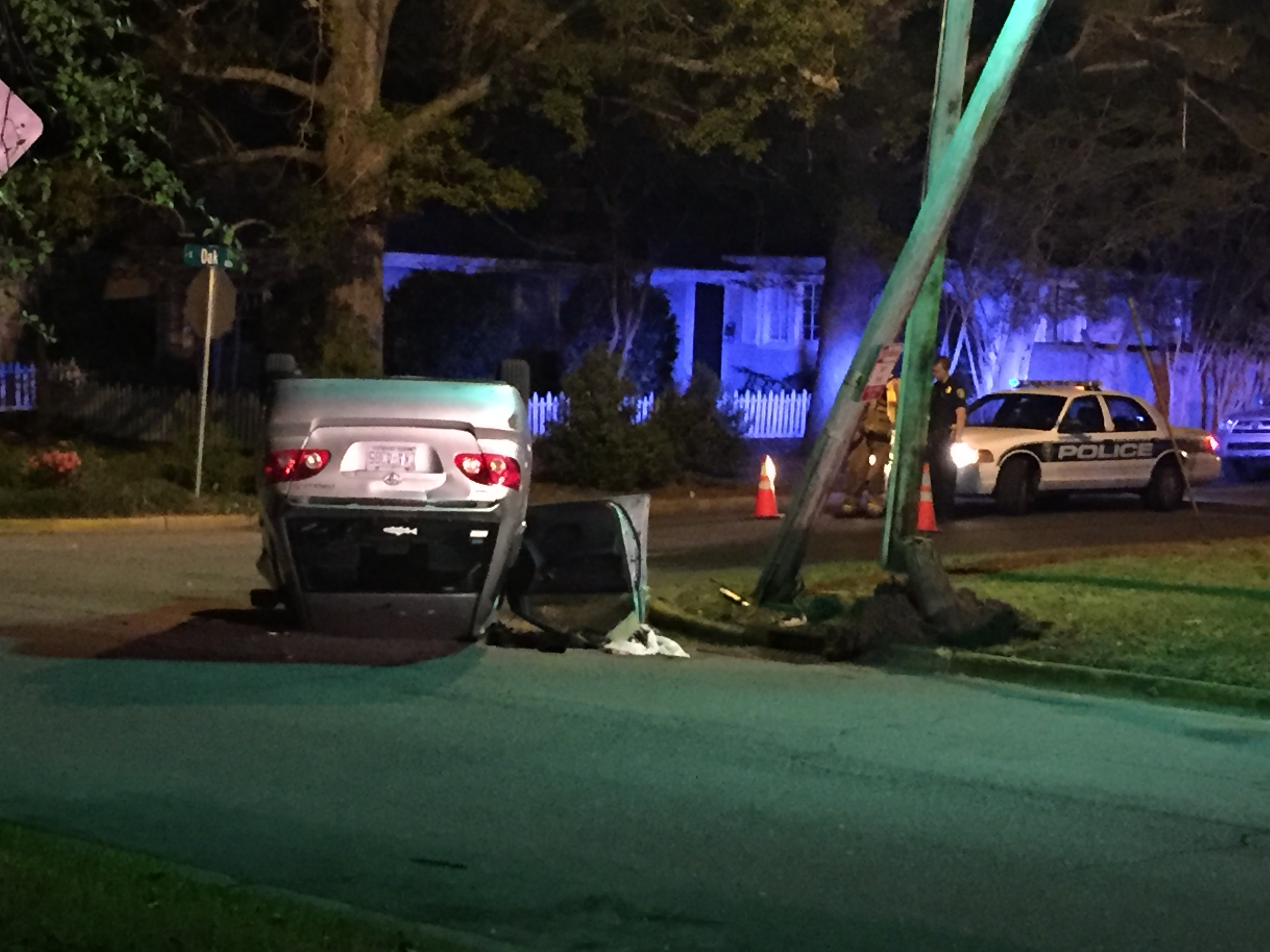 & Greenville driver arrested for DWI after car hits pole flips azcodes.com