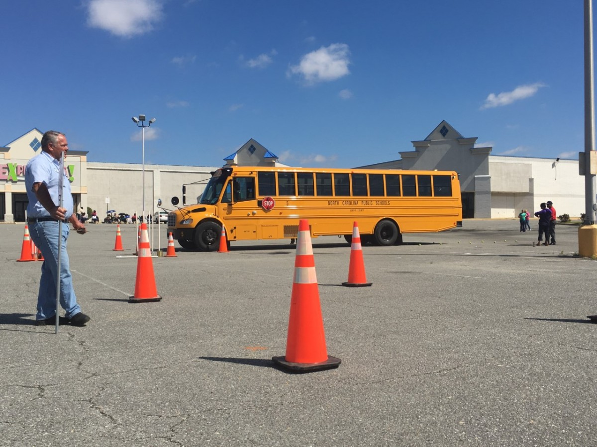 kinston wnct lenoir co school bus drivers competing in annual bus rodeo