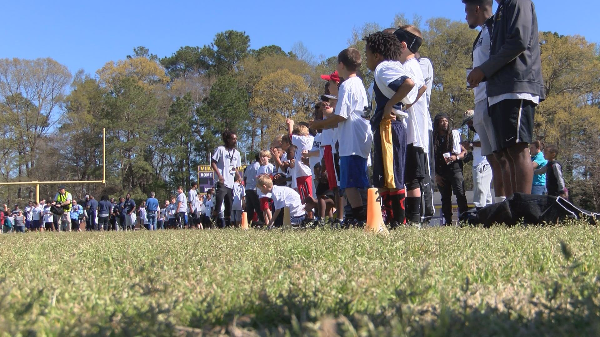 L A Rams Todd Gurley holds 1st football camp in hometown of Tarboro