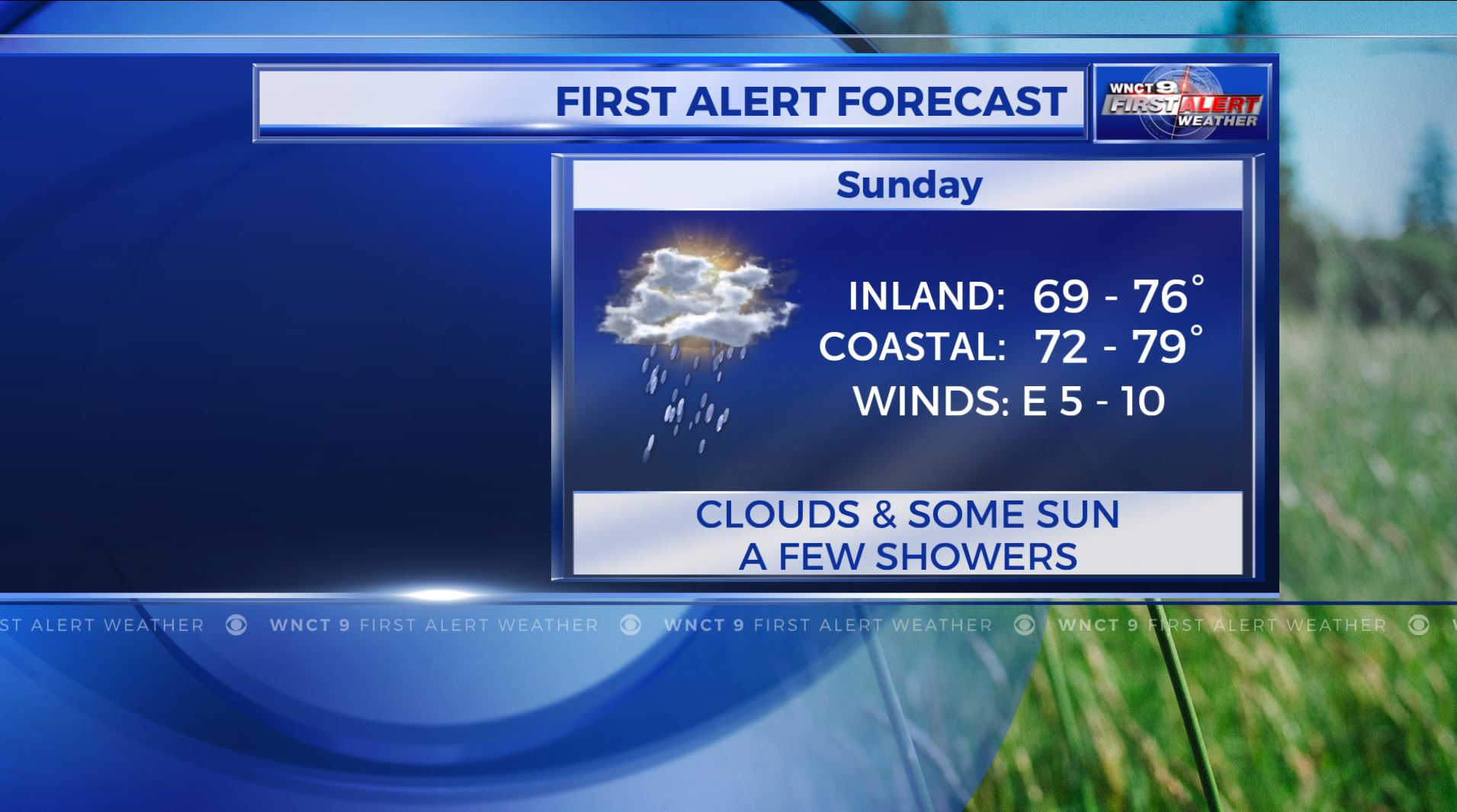 Rain later today; Chance of storms Sunday