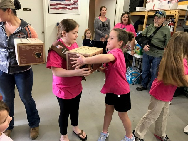 Area Girl Scouts support military with Operation Cookie Drop