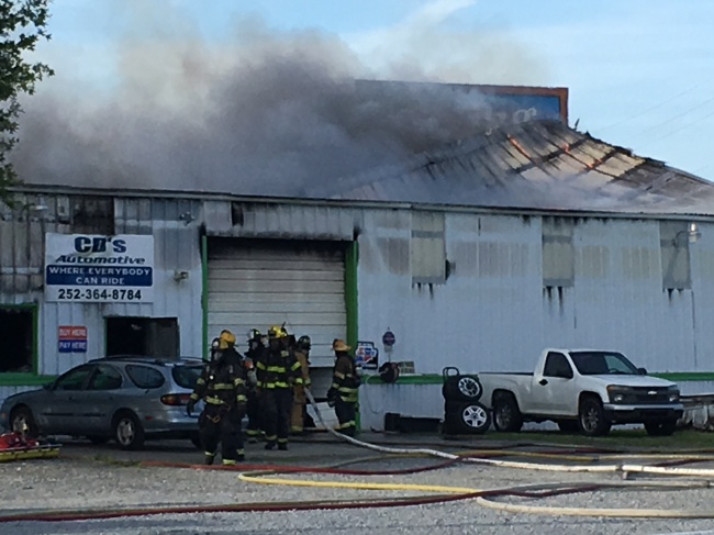 CD's Automotive in Winterville catches on fire