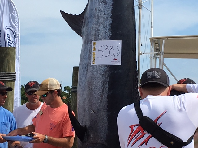 Run Off opens Big Rock with 533.8lb catch to lead after first day