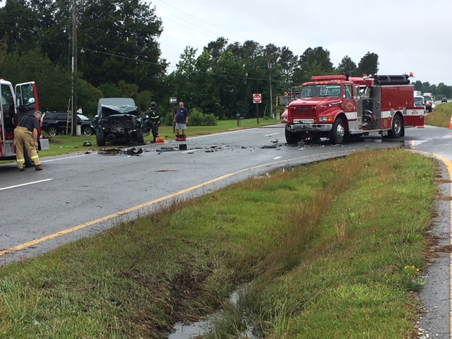 Highway Patrol investigates Pactolus fire truck accident