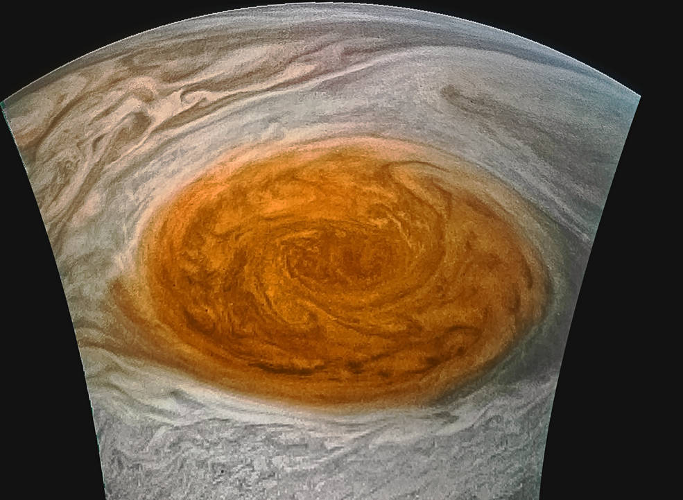 NEW IMAGES: NASA's Juno Spacecraft Captures Jupiter's Great Red Spot