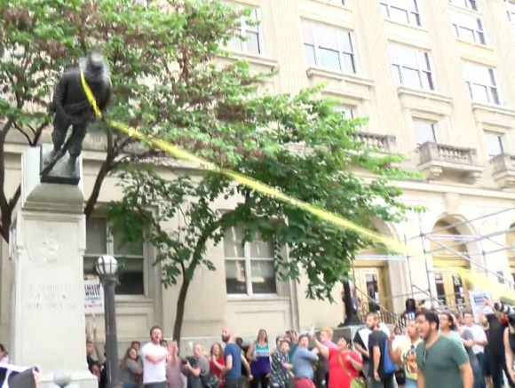 Protestors Topple Confederate Statue In North Carolina