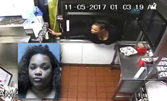 Woman climbs through McDonald's drive-thru window to steal food and cash