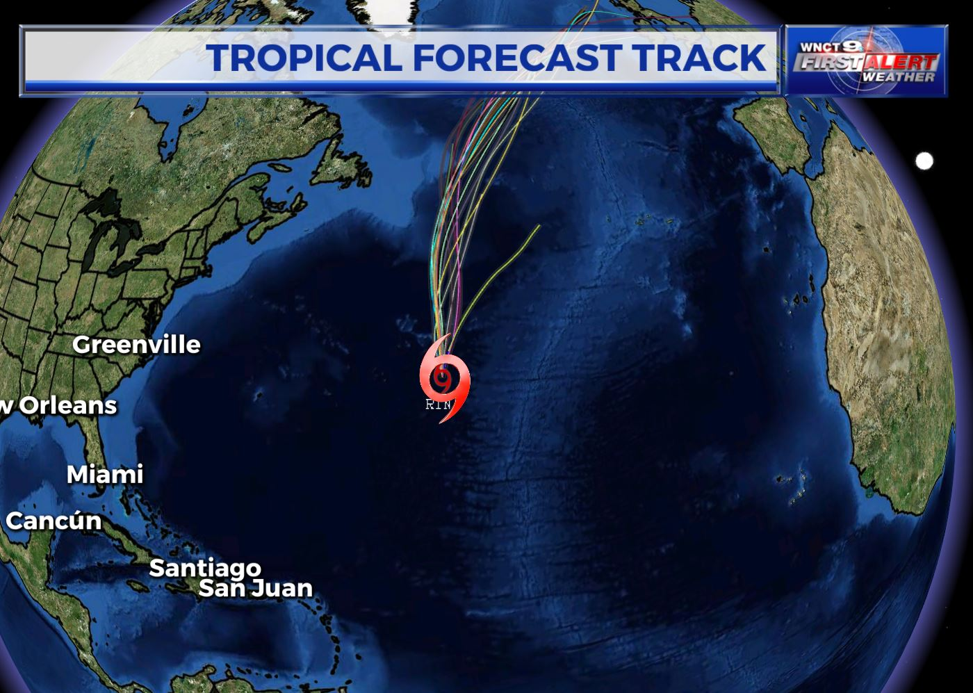 Tropical Storm Rina headed toward North Atlantic