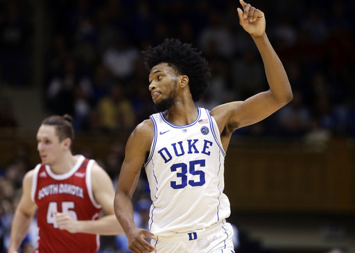 Duke forward Marvin Bagley III named ACC Player of the Year