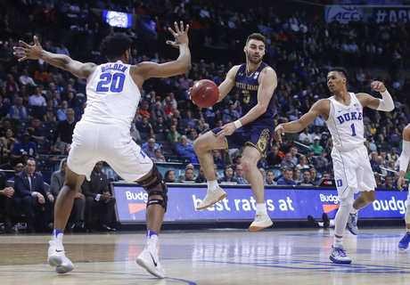 Marvin Bagley: Dominates Notre Dame in ACC Tournament